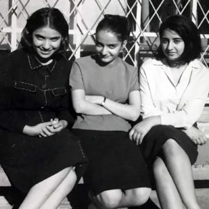 Parvin between high-school friends, 1960