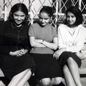 Parvin between high-school friends, 1960